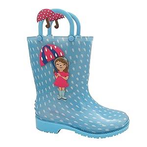 Penelope Girls Rain Boots Printed 9