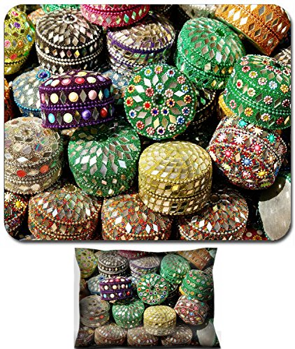Luxlady Mouse Wrist Rest and Small Mousepad Set, 2pc Wrist Support design Big amount of bright orient jewelry boxes IMAGE: (Best Luxlady Jewelry Boxes)