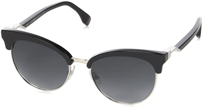 0a40000828 Image Unavailable. Image not available for. Color  Fendi Metal Browline  Sunglasses ...