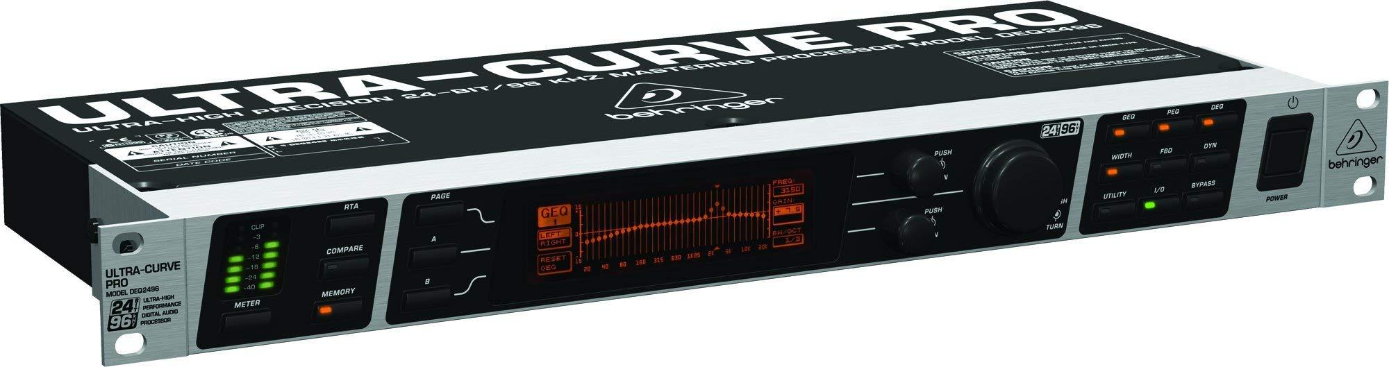 Behringer Ultracurve Pro DEQ2496 Ultra-High Precision 24-Bit/96 kHz Equalizer, Analyzer, Feedback Destroyer and Mastering Processor (Certified Refurbished) by Behringer (Image #4)