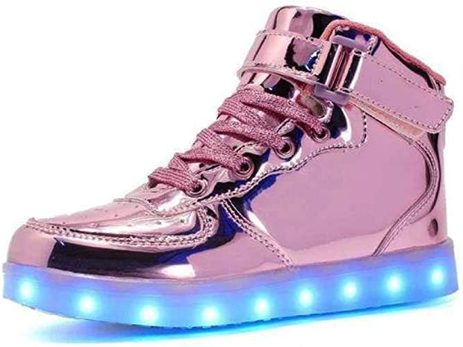 Rose Gold Light up Trainers Womens