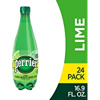 Perrier Lime Flavored Carbonated Mineral Water, 16.9 Fl Oz (24 Pack) Plastic Bottles