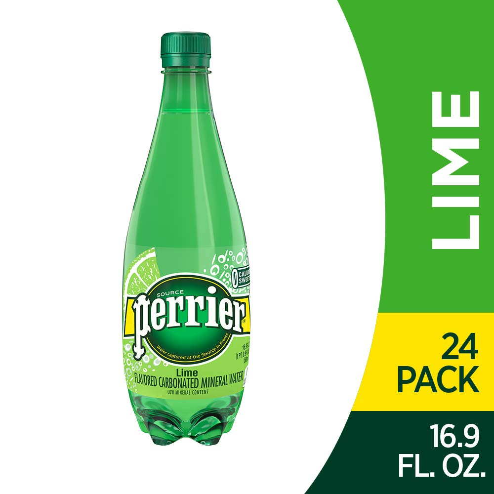Perrier Lime Flavored Carbonated Mineral Water, 16.9 Fl Oz (24 Pack) Plastic Bottles by Perrier