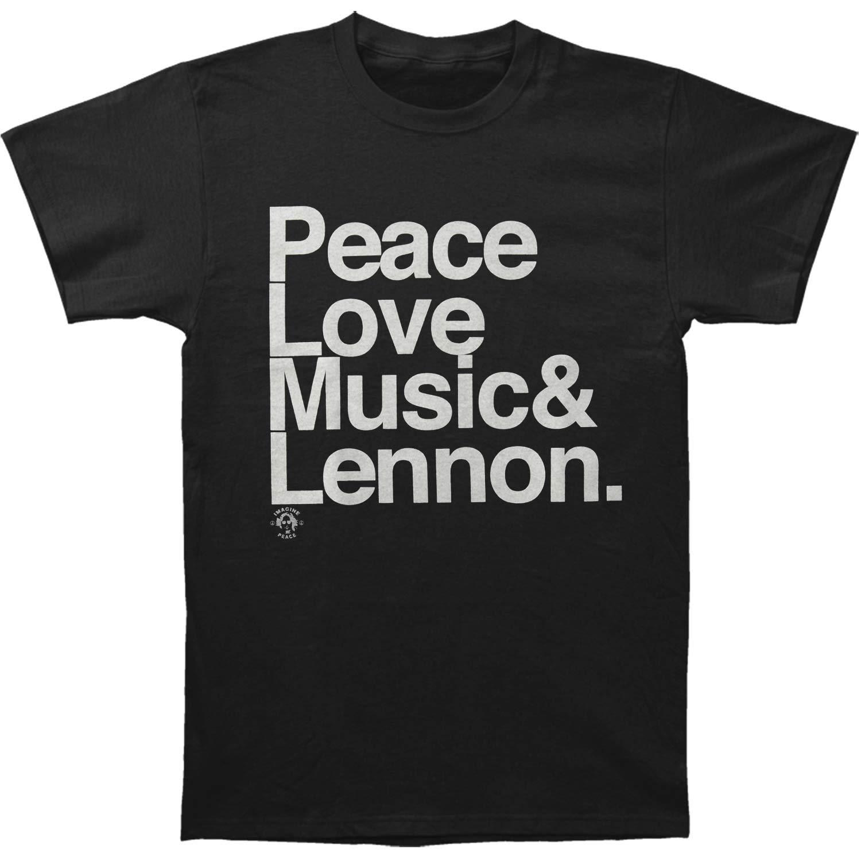 John Lennon Ampersand Peace Love Music Lennon Adult Tshirt