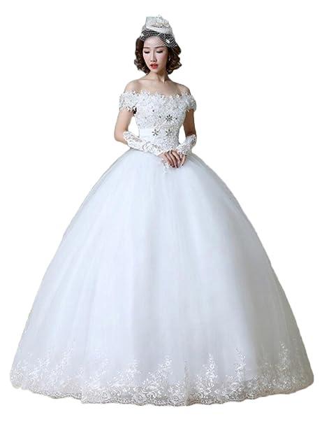 ka belleza de la mujer Cap Sleeve cristal apliques boda vestidos de novia (.