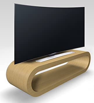 Zespoke Retro Style Hoop Design Large Natural oak TV Stand/Cabinet ...