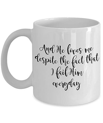 Amazon Com Jesus Loves Me Coffee Tea Mug Best Funny Cool Mugs