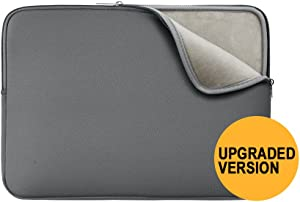 """RAINYEAR 14 Inch Laptop Sleeve Protective Case Soft Lining Padded Zipper Cover Carrying Bag Compatible with 14"""" Notebook Computer Tablet Ultrabook Chromebook (Gray,Upgraded Version)"""
