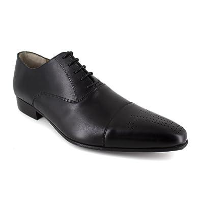J.bradford Richelieu  Cuir  JB-ALFEX Noir - Livraison Gratuite avec - Chaussures Richelieu Homme