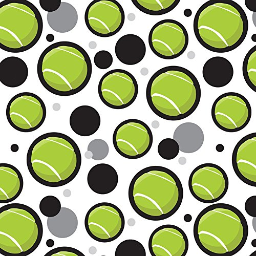 Premium Gift Wrap Wrapping Paper Roll Pattern - Tennis - Tennis Ball Artsy - Wrap Gift Ball
