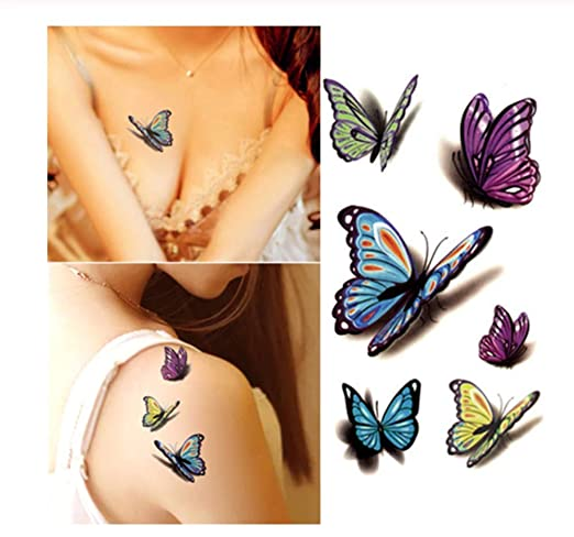 DRTHUKG Etiqueta Engomada del Tatuaje 10.5 * 6 Cm Impermeable Sin ...