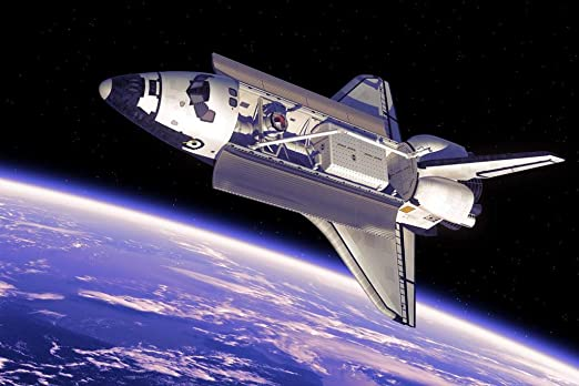 30in  x 20 in The Last Shuttle from EARTH Wall Poster - Fast Shipping