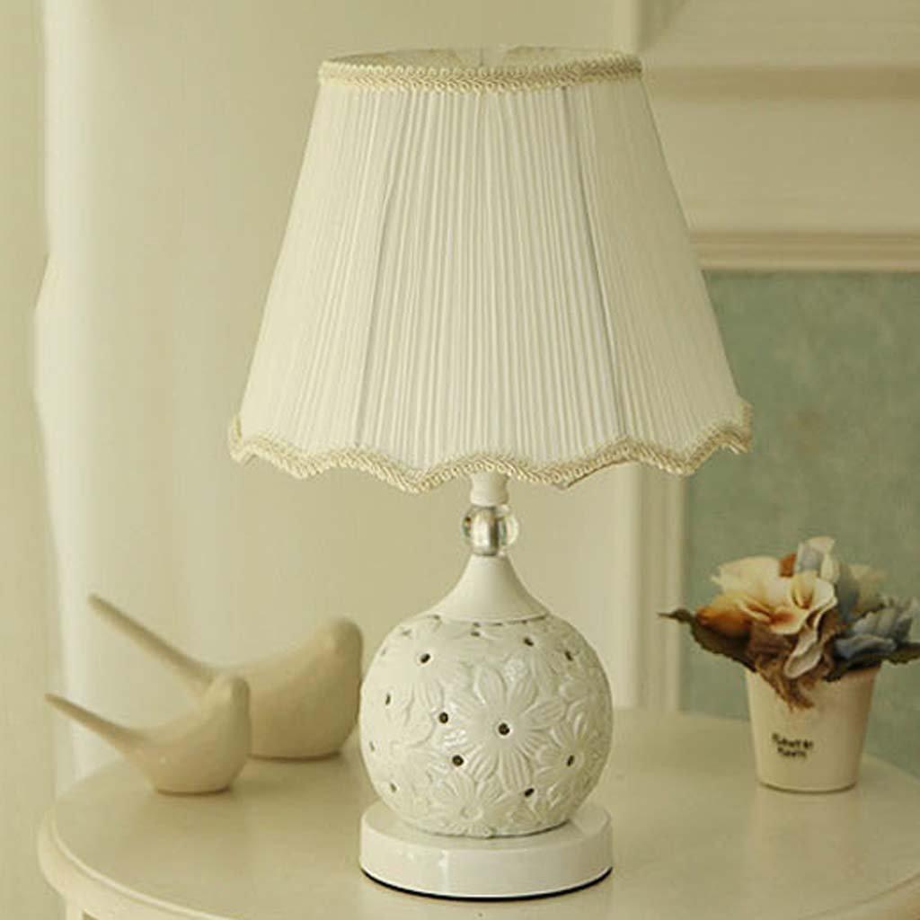 haoショップセラミックテーブルランプモダンシンプルUp and Down照明ベッドサイドランプSuitable forスタディベビールーム寝室 042-652 B07C62BFXL 25319  ホワイト