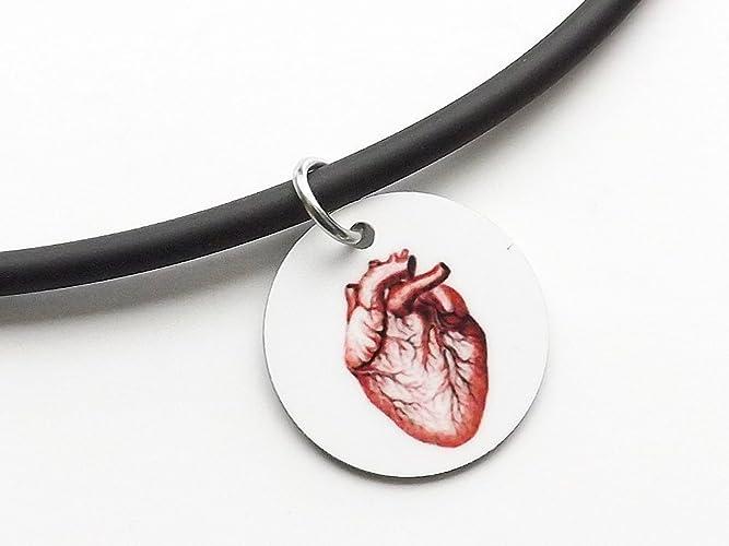 Amazon.com: Anatomy Pendant Necklace anatomical heart spine skull ...