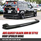 EpandaHouse For 04-07 Scion xB/bB Jdm Glossy Black Abs Ducktail Rear Roof Spoiler Wing Lip