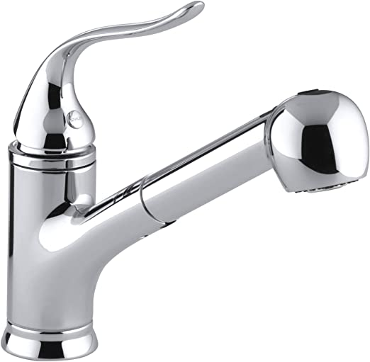 KOHLER Coralais(R) Single Three-Hole Sink Pull-Out Matching Color spray  head, 9\