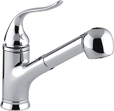 Kohler Coralais R Single Three Hole Sink Pull Out Matching Color Spray Head 9 Spout Reach And Lever Handle Kitchen Faucet Polished Chrome 15160 Cp Touch On Kitchen Sink Faucets Amazon Com