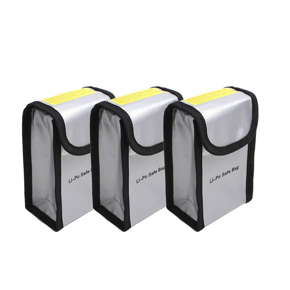 Owoda 1 St/ück Feuerfest Explosionsgesch/ützt Lipo Batterie Safe Tasche H/ülse Lipo Batterie Bewachen Beutel Sack Berechnen Schutz Tasche f/ür DJI MAVIC PRO