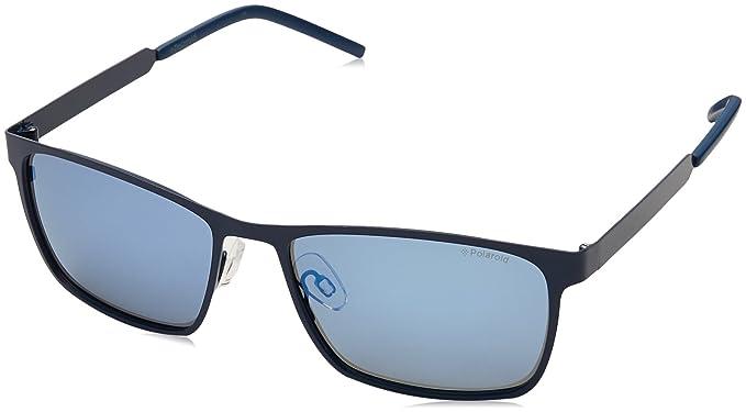 Polaroid Unisex-Erwachsene Sonnenbrille Pld 2047/S 5X Rct, Blau (Matt Blue/Grey Grey Speckled Blue Pz), 57