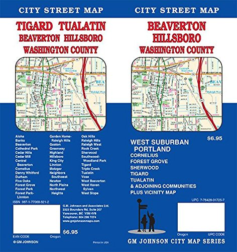 Beaverton / Hillsboro / Tigard / Tualatin / Washington County, Oregon Street Map