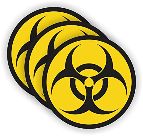 Biohazard symbol gaming pc sticker laptop notebook desktop decal vinyl bio hazard label