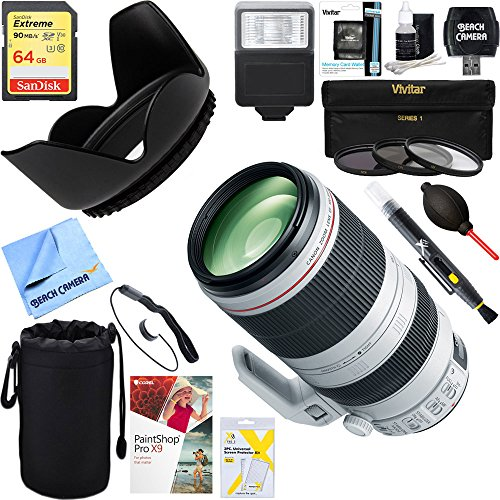 Canon EF 100-400mm f/4.5-5.6L IS II USM Lens + 64GB Ultimate Filter & Flash Photography Bundle