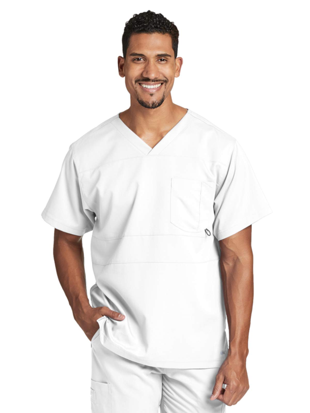 2b1c1f5852d Grey's Anatomy Active 0116 Men's V-Neck Scrub Top White L