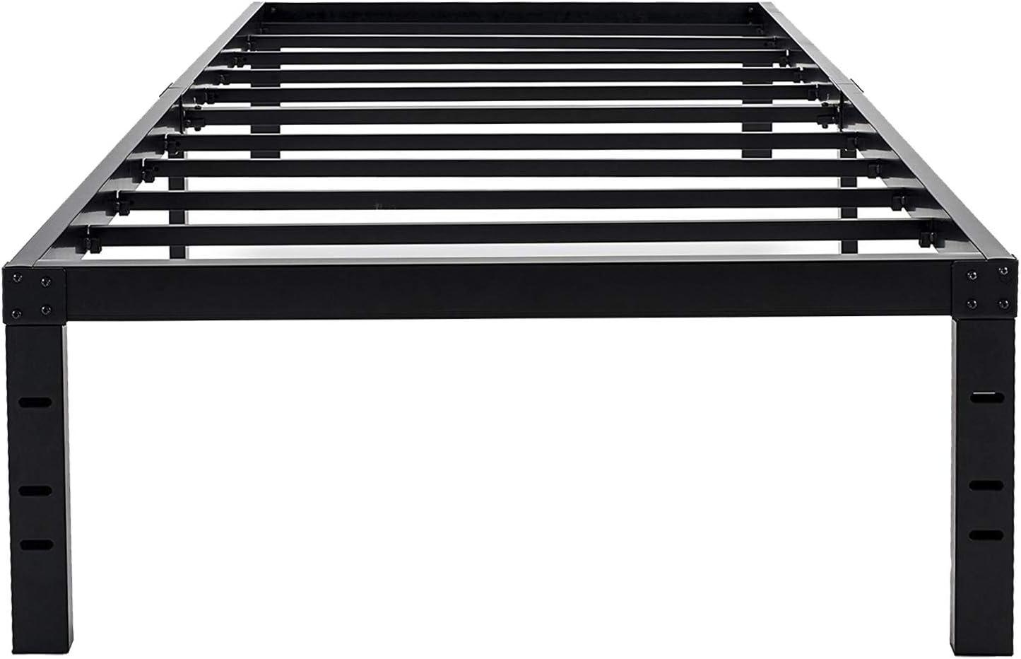 18 Inch Maximum Storage Bed Frame//Reinforced Platform //3500lbs Heavy Queen