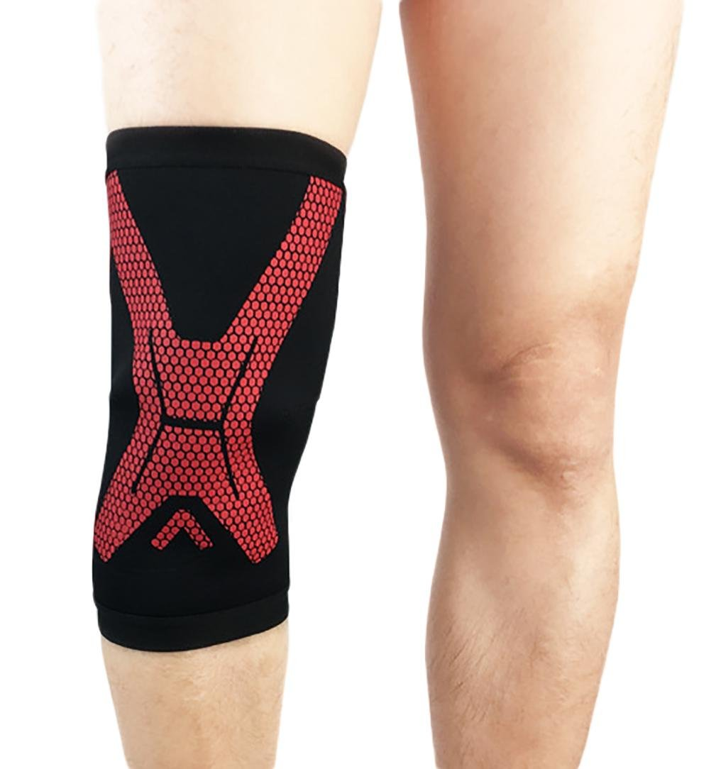 Basketball knee pads men and women Keep warm Breathable Polyester Stabilize the patella Reduce wear and tear (A pair)