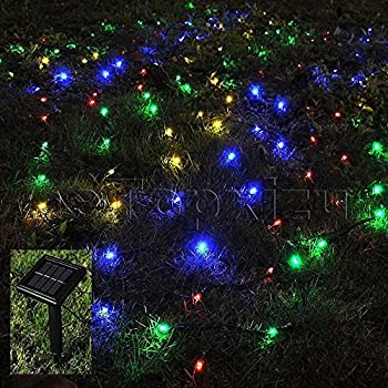 1mx2m outdoor solar net led string lights christmasetopxizu 328ftx656ft 120led solar - Christmas Lights Net