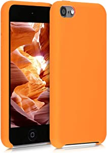 kwmobile TPU Silicone Case Compatible with Apple iPod Touch 6G / 7G (6th and 7th Generation) - Soft Flexible Protective Cover - Cosmic Orange