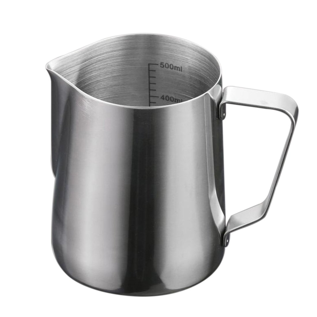 Milk Frothing Pitcher, Yamix Stainless Steel Creamer Frothing Pitcher Milk Cup Professional Latte Milk Steaming Pitcher 20oz/550ml for Espresso Machine, Coffee Milk Frother and Latte Maker