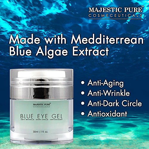Majestic Pure Blue Eye Gel, Reduces the Appearances of Wrinkles and Dark Circles - Eye Cream Formula for Skin Tone and Resilience - 1.0 fl. oz. by Majestic Pure (Image #2)