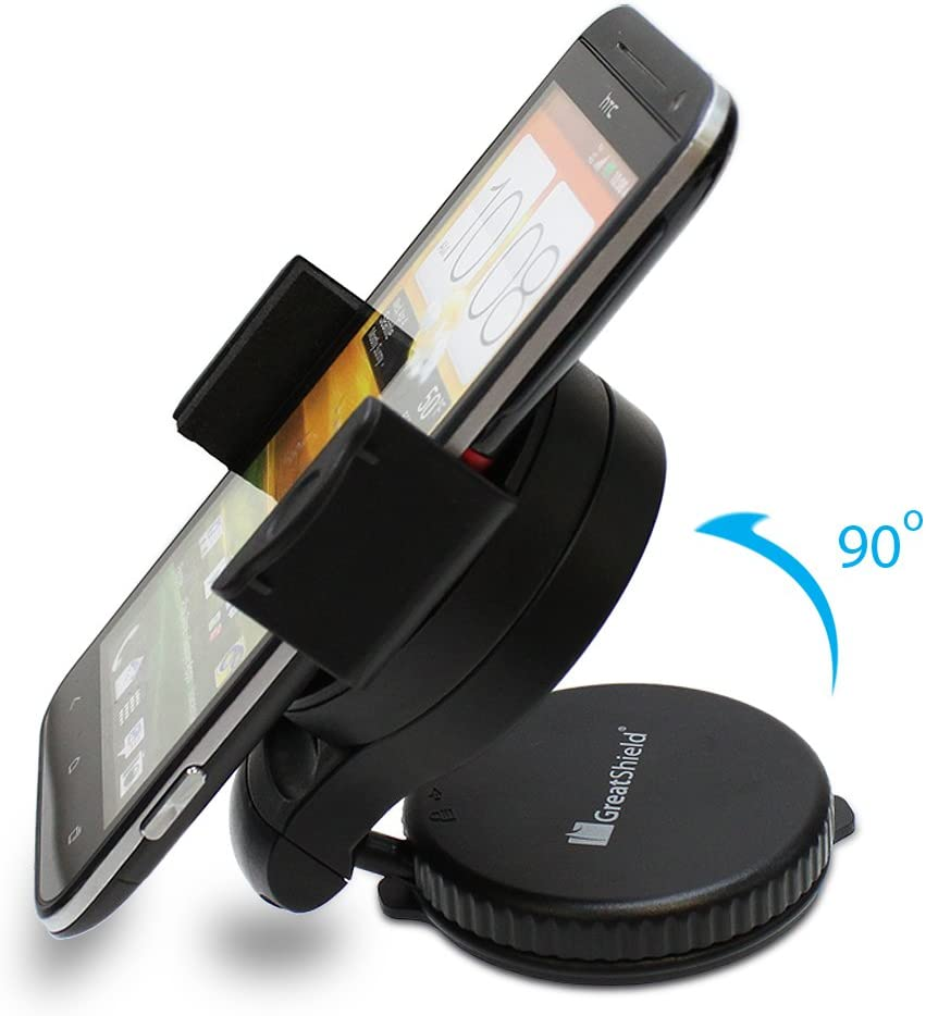 GreatShield Windshield Dashboard Universal Smart Holster Car Mount for Cell Phones and GPS Devices