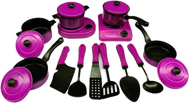 Cacharritos Cocina Juguete Set Juego de Imitaci/ón para Ni/ños Infantil Amarillo Accesorios Cocina Juguetes YVSoo 13 Piezas Utensilios Cocina Juguetes