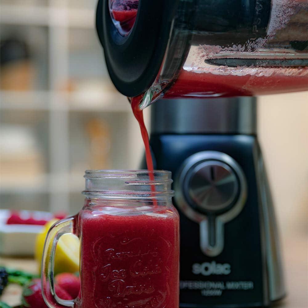 Solac S91202500 Batidora de vaso, cuchillas 6 filos, 1.5 litros, 5 ...