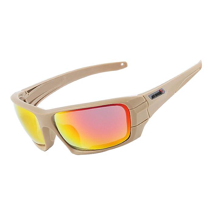 AnazoZ Gafas Protectoras Gafas Polarizadas Gafas Tácticas Gafas de Montar Gafas Protectoras Deporte Gafas Caqui: Amazon.es: Ropa y accesorios