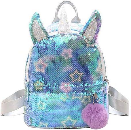 Girls Sequin Backpack,WolinTek Unicorn Backpack Girl Sequins Schoolbag for Girls,Fashion and Durable Travel Backpack for Kids,Girls