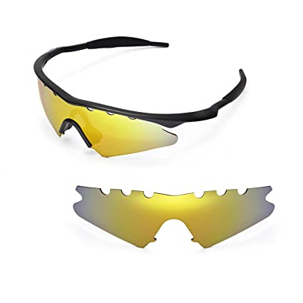 650b8c54a4 Walleva Vented Replacement Lenses for Oakley M Frame Sweep Sunglasses -  Multiple Options Available (24K