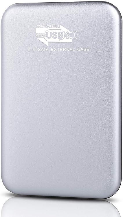 Disco duro externo portátil de 2 TB, actualización de disco duro portátil USB 3.0, compatible con PC, portátil, Mac, Chromebook, Smart TV plata: Amazon.es: Electrónica