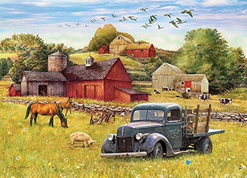 (Cobblehill 80002 1000 pc Summer Afternoon on The Farm Puzzle,)