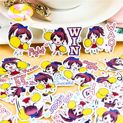 42pcs Creative Kawaii Japanese Cheerleading Girls Scrapbooking Stickers/Decorative Sticker/DIY Craft Photo Albums/Children