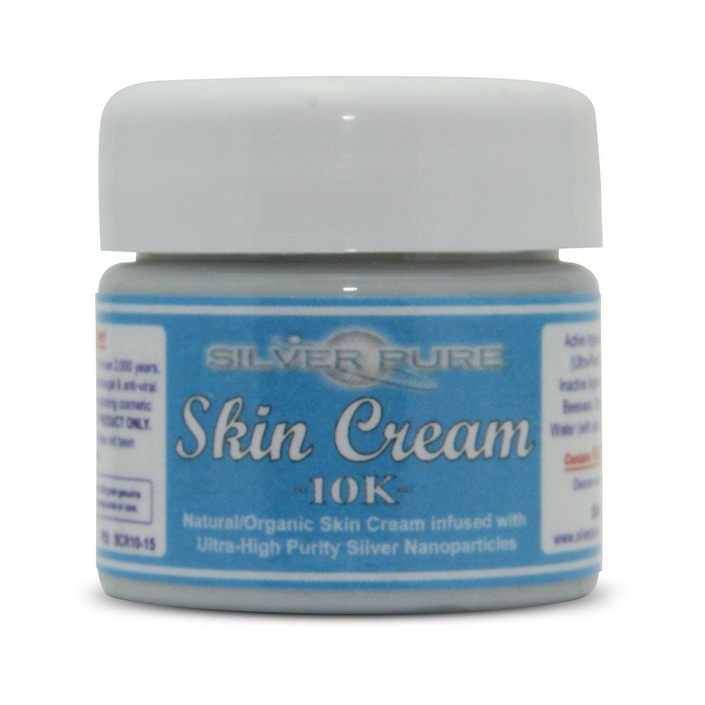 Nano Silver Skin Cream 10,000 ppm - 1/2 Ounce Jar