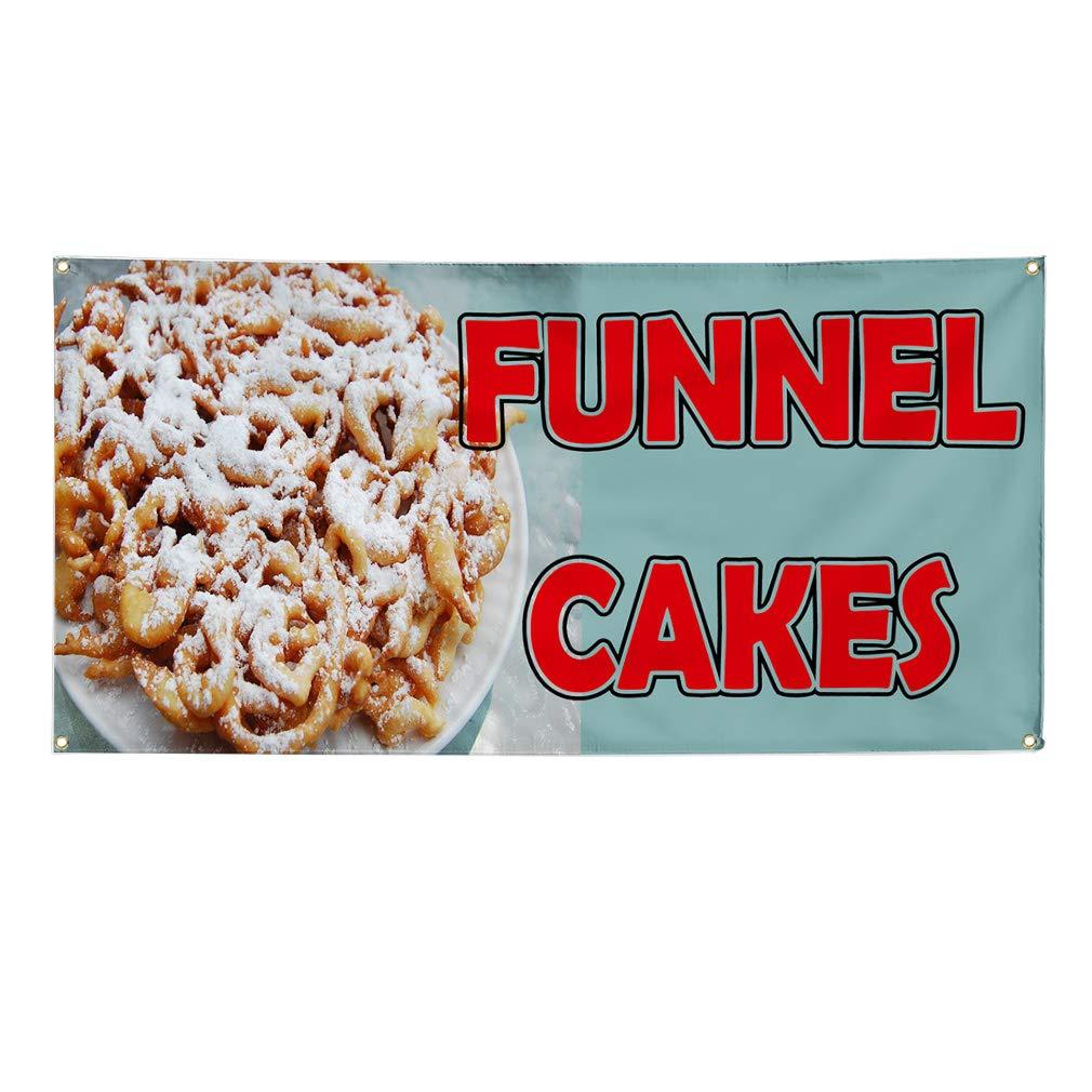 FUNNEL CAKE Advertising Vinyl Banner Flag Sign Many Sizes CARNIVAL FAIR FOOD