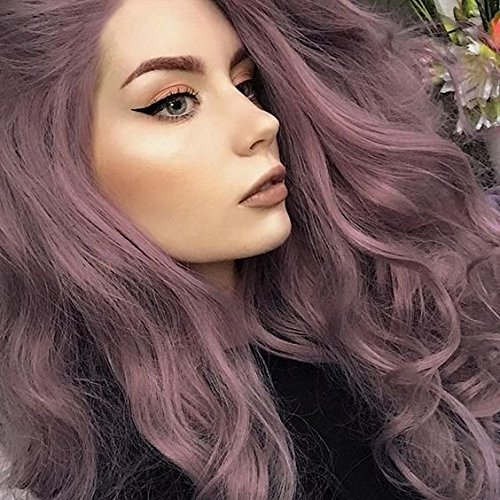 IMSTYLE Lace Front Wigs Purple Wigs With Wave Long Synthetic Lace Front Wig For Woman Natural Lilac, Purple, Violet Color Hair Wigs 24 Inch by IMSTYLE