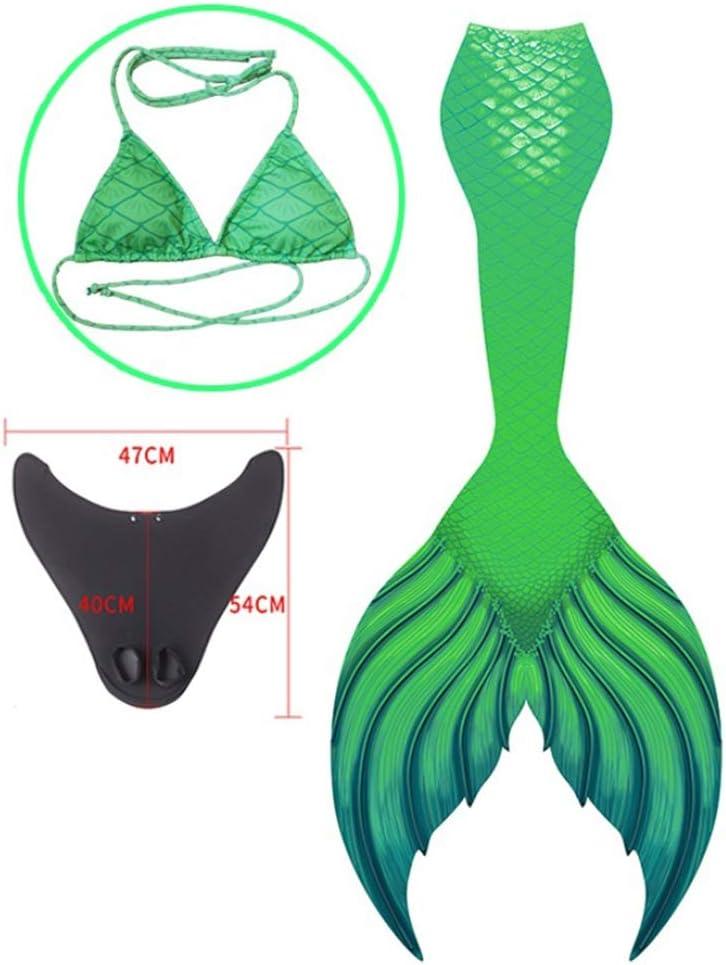 SXHHH Women's swimsuit Mermaid Swimsuit Adult,3pcs Bikini