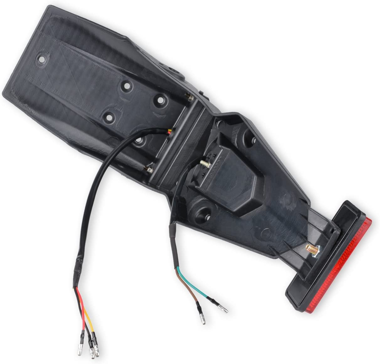 Red Shell KaTur 12V LED Motorcycle Fender Rear Tail Stop Light Reflector Universal for MX Motocross Sport Pit Dirt Bike