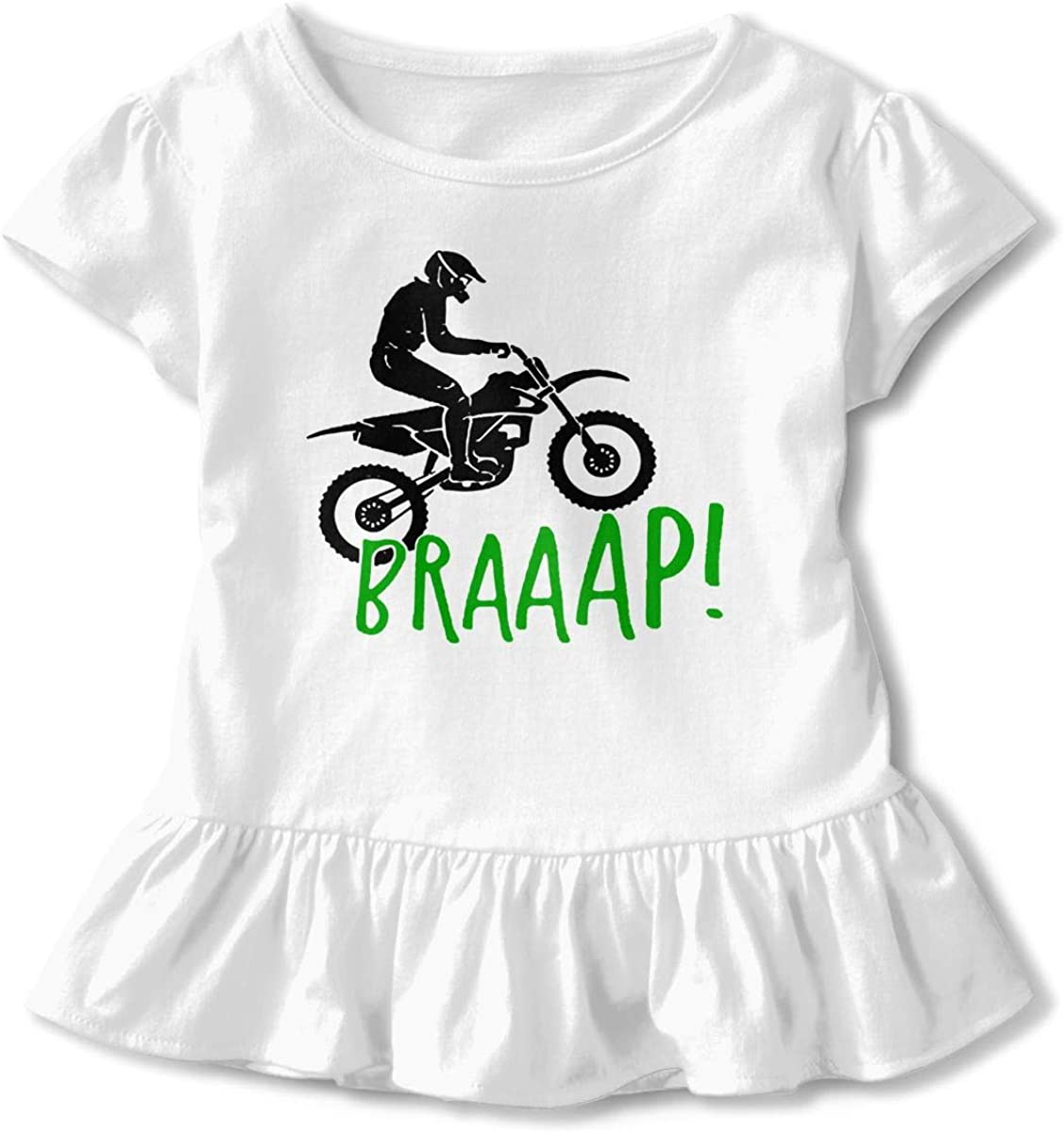 HYBDX9T Toddler Baby Girl Braaap Funny Short Sleeve Cotton T Shirts Basic Tops Tee Clothes