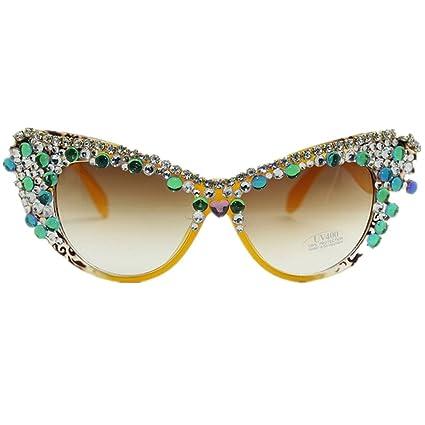 LIDESMUKG Gafas de Sol polarizadas Hechas a Mano de Color ...