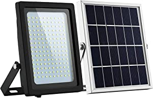 Foco LED con Sensor de Movimiento, Foco Exterior Jardin Solar, IP66 Impermeable, día Noche Detección Automática, 150LED lluminacion Exterior Solar para Jardín, Calles, Patio, Garaje,WhiteLight